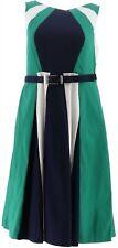 GILI Slvless Color-Block Dress Navy 6P NEW A254061