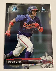 2017 Bowman Chrome Ronald Acuna 1st #BCP127 Atlanta Braves 🔥🔥🔥 Rookie