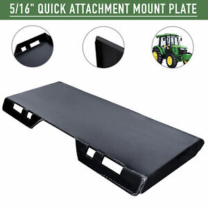 """1//4/"""" Quick Tach Attachment Mount Plate kubota Trailer Hitch Skid Steer Gray 14MP"""