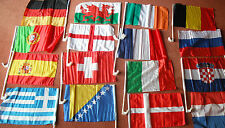 Any 2 x 2018 World Cup Car Flags Football Switzerland, Italy,Belgium,Wales +