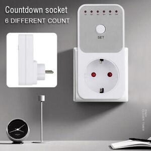 Intelligent Zeitschalter Timer Steckdose Zeitschaltuhr Set Countdown Buchse DE