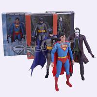 NECA DC Comics Superman Batman Joker PVC Action Figure Collectible Model Toy