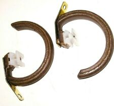 """Lot 10 KIRSCH REPLACEMENT Brown Wood Curtain RING SLIDES 1 1/8""""  TRAVERSE Rod"""