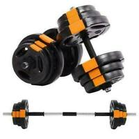 Phoenix Complete 15kg Fitness Dumbbell & Barbell Weight Sst Training GYM Weights