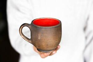 Colorful cup Multi color coffee mug Pottery mug Ceramic mug Blue mug Orange mug