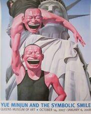 "YUE MINJUN 'Lady Liberty' Symbolic Smile 2007 NYC Exhibition Poster 36""x24"" NEW!"