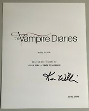 The Vampire Diaries Script Cover Signed By Kevin Williamson Creator 8x10