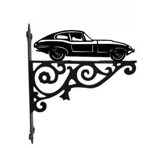 E Type Jag Car Metal Hanging Basket Bracket Wall Mounted Decorative Garden