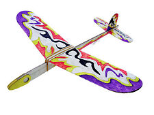 Lanyu Hand Launch Balsa Wood Glider Plane DIY Build&Paint Model Kit, US 8029