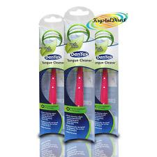 3x Dentek Tongue Cleaner Scraper Fresh Mint Remove Bad Breath & Bacteria