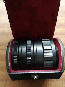 Vintage genuine asahi pentax M42 macro lens extension tubes fujifilm Canon nikon