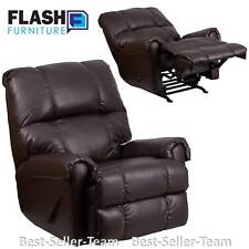 Recliner Rocker Reclining Chair Living Room Chocolate Leather, Flash Furniture