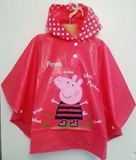 Muddy Puddles ROSA PEPPA PIG PONCHO IMPERMEABILE. età 18 mesi -3 anni