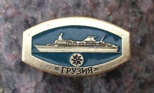 Vintage Russian Georgia Class Passenger Ship Cruise Ocean Liner Pin Badge