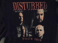 RARE Disturbed TOUR SHIRT Large Uproar 2010 Avenged Sevenfold HELLYEAH Halestorm
