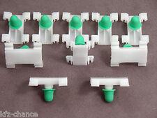 10x BARRE ornamentali MOLLETTE CLIP per BMW e38 e39 OPEL ASTRA G, Zafira A, MULTIPLA
