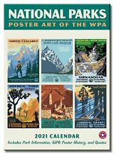 National Parks GRID WPA Wall Calendar 2021, Monthly January-December 8.75'' x 12