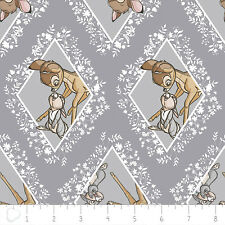 Disney Bambi Diamonds in Dark Grey Camelot 100% cotton fabric by the yard