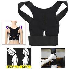Magnet Posture Back Shoulder Corrector Support Brace Belt Therapy Adjustable New