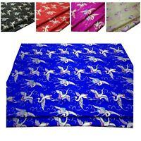 Rainbow Phoenix Jacquard Damask Kimono Fabric Material*BC32 Faux Silk Brocade