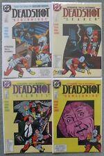 DEADSHOT #1-4 SET..JOHN OSTRANDER/KIM YALE..DC 1988 1ST PRINT.VFN..SUICIDE SQUAD