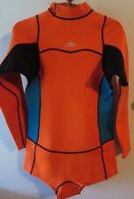 2MM Rash Guard Neoprene Wetsuit One-piece Long Sleeve Diving Swimwear L XL Orang