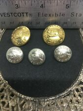 5 - Canadian Pacific Railroad CPR Conductor Uniform Beaver Brass Button 1950's