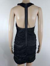 Women's / Juniors ESLEY Little Black Sexy Dress Polyester Slit Back Sz Small