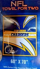 "NFL Beach Towel For 2, ""San Diego Chargers"" NEW"