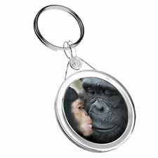 1 x Wildlife Chimpanzee Mother Baby - Keyring IR02 Mum Dad Birthday Gift #16106