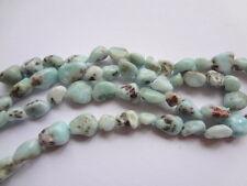 6-8mm Natural Larimar Nugget Semi Precious Gemstone Beads, Half Strand