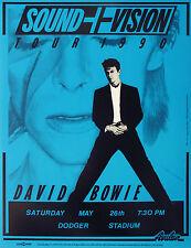"David Bowie Dodger Stadium 16"" x 12"" Photo Repro Concert Poster"