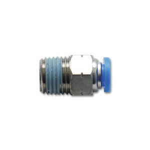 """Vibrant 2660 One Touch Air Fitting Straight 1/8"""" NPT to 5/32"""" Push Hose"""