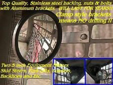 2 SKID STEER EQUIPMENT MIRRORS skidsteer backhoe Fits bobcat cat new holland etc