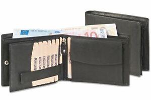 Rinaldo - Glattes Rindsleder  - Herren Geldbörse - Querformat - 12 Kreditkarten