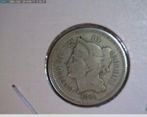 1865 Three Cent Nickel ( 47-71 9m1r )