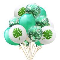15 Tropical Confetti Balloons, Hawaiian Party Balloon Decoration