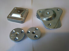 SET OF 4 LEG FIXING MOUNTING PLATES BRACKETS LEVEL / ANGLED PLATE  FEET LEGS M8