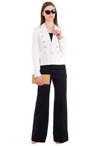 RRP €395 VERSACE JEANS Jersey Blazer Jacket Size 46 / XL Eyelets Made in Italy