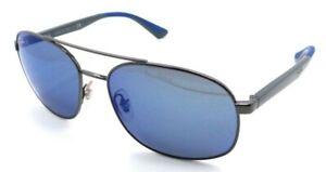 Ray-Ban Sunglasses RB 3593 004/55 58-17-140 Gunmetal - Grey / Blue Mirror