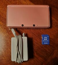 Nintendo 3DS Pink Handheld Video Game Console CTR-001 2GB Card SW 11.4.0-6U USA