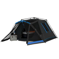 Instant Dark 6-Person Rest Tent W/ LED Lighted Poles Family Camping Hiking Cabin