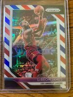 2018-19 Prizm Lebron James - Red, White and Blue