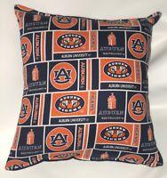 Auburn University Pillow Tigers Pillow NCAA Football Pillow HANDMADE In USA