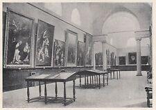 D2867 Forlì - Salone della Pinacoteca - La Parete dei Bolognesi - 1922 old print