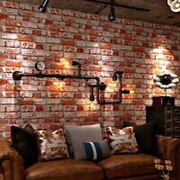 Vintage PVC Wallpaper 3D Embossed Brick Stone Wall Paper For Walls Restaurant