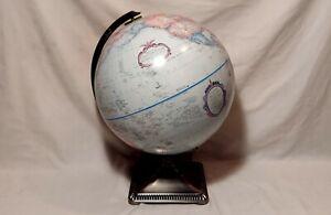 "Replogle 12"" Diameter Globe World Classic Series Relief Surface Metal Base"