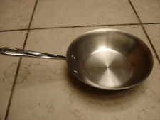 """New listing Emeril Heavy Wgt. 18/10 Stainless 8"""" Open Skillet W/Copper Core S/S Bottom Euc"""