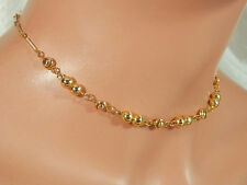 Beautiful Vintage 24k Gold Plated Necklace w/Original Tag-Made In Korea  3099jl