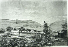 CALIFORNIA GOLD RUSH SUTTER'S MILL COLOMA American River ~ Old 1888 Art Print